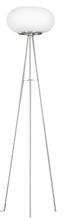 Eglo 86817A - 2x60W Floor Lamp w/ Matte Nickel Finish & Opal Frosted Glass