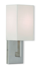 Livex Lighting 51101-91 - 1 Light Brushed Nickel Wall Sconce