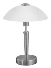 Eglo 85104A - 1x60W Table Lamp w/ Matte Nickel Finish & Frosted Opal  Glass