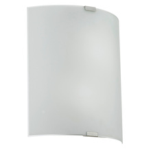 Eglo 90463A - 2x100W Wall Light w/ Chrome Finish & Satin Glass