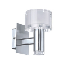 Eglo 90578A - 1X40W Wall Light w/ Chrome Finish & White & Clear Glass