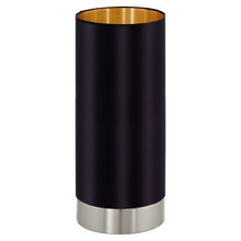 Eglo 95117A - 1x60W Cylinder Table Lamp w/ Black & Gold Shade