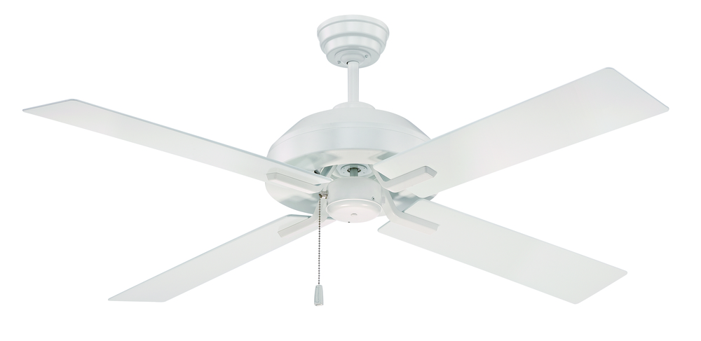 "South Beach 52"" Ceiling Fan with Blades and Light in White"