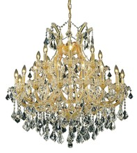 Elegant 2800D36G/SA - 2800 Maria Theresa Collection Chandelier D:36in H:36in Lt:24 Gold Finish (Spectra� Swarovski� Crysta
