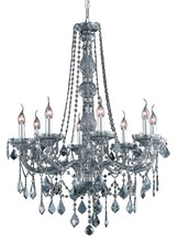 Elegant 7858D28SS-SS/SS - 7858 Verona Collection Chandelier D:28in H:34in Lt:8 Silver Shade Finish (Swarovski� Elements Crysta