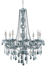 Elegant 7958D28SS-SS/SS - 7958 Verona Collection Chandelier D:28in H:34in Lt:8 Silver Shade Finish (Swarovski� Elements Crysta