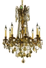 Elegant 9208D24FG-GT/SS - 9208 Rosalia Collection Chandelier D:24in H:30in Lt:8 French Gold Finish (Swarovski� Elements Crysta