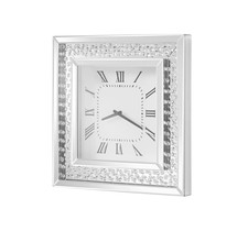 Elegant MR9114 - Sparkle 20 in. Contemporary Crystal Square Wall clock in Clear